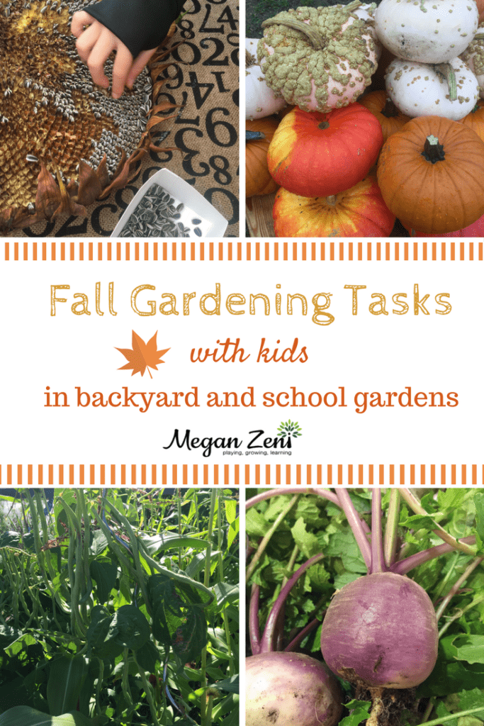 Fall Gardening tasks with kids