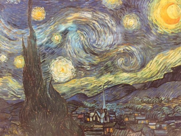 Vincent van Gogh's starry night for kids