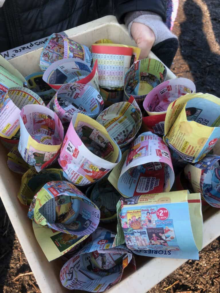 paper seed pot