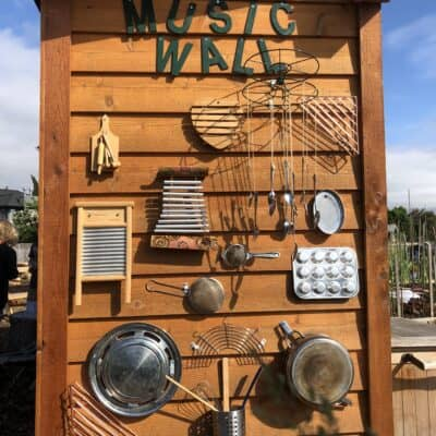 How to build a music wall in your outdoor classroom
